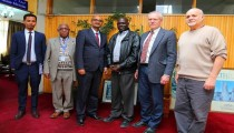 Dr. Akililu holds talks with Dr.Gugo Obang on Gambella Medical School in Ethiopia