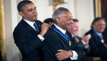 President Obama awarded the Presidential Medal of Freedom to Mr. Vivian at a White House ceremony in 2013. Credit Gabriella Demczuk/ The New York Times