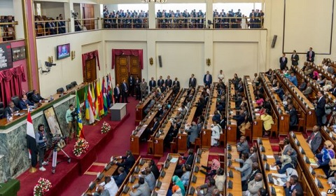 Egypt's President addresses Ethiopia's parliament about sharing waters of the Nile River